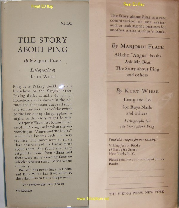 The Story About Ping - First Edition Identification Points