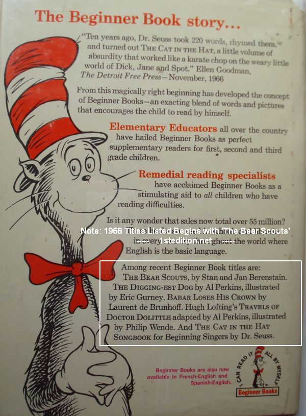 Dr. Seuss First Edition Books