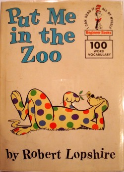 Put Me In The Zoo First Edition Book