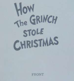 How The Grinch Stole Christmas First Edition