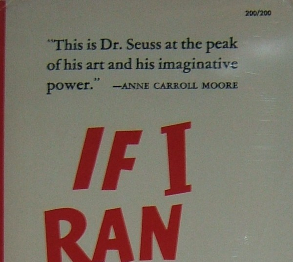 Dr. Seuss First Edition Identification If I Ran The Zoo DJ Price