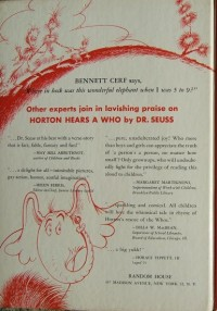 Dr. Seuss first edition book identification